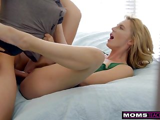 MomsTeachSex - Super-Hot Wifey Uses Step Sons-In-Law Man Sausage In Vengeance Poke