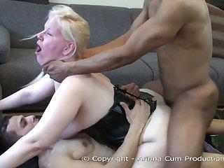 Arinna Male Milk gets a DAP from 2 big cocks