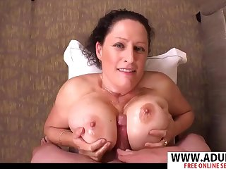 Busty mommy crazy Titjob