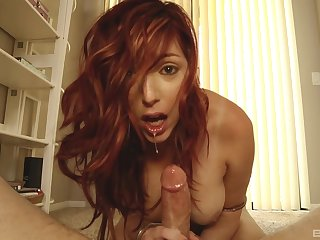 POV asshole teases and a sloppy blowjob from Lauren Phillips