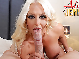 Large-Breasted blond porn star Alura Jenson gets banged in POV PORN