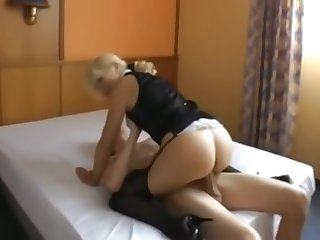 MILF fucking A Young Stud. Riding And Anal Fucked