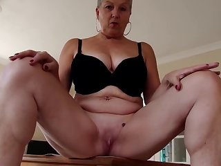 Sexy granny with big tits and hungry cunt